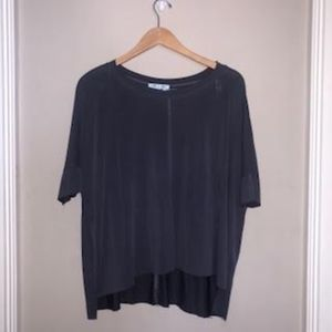 She and Sky Purple Gray 3 Quarter Sleeves Top